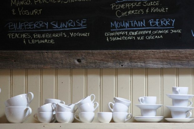 cups and chalkboard
